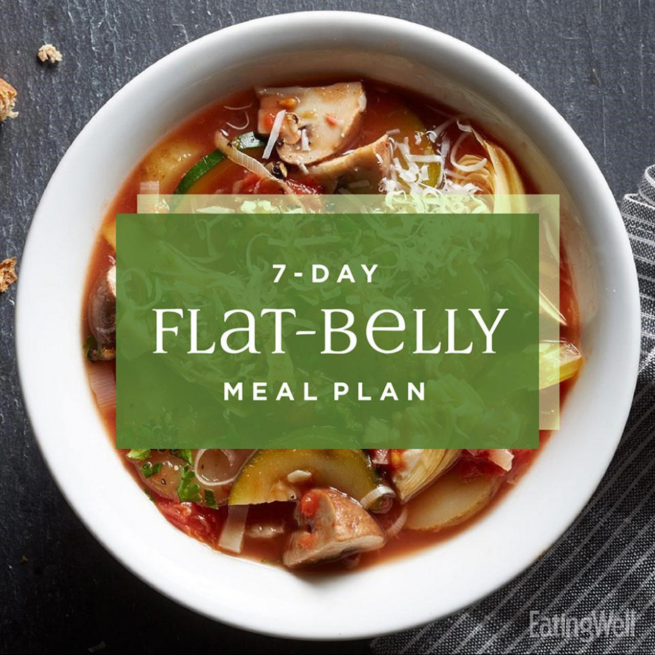 7 Day Flat Belly Meal Plan - EatingWell - Healthy Recipes Pdf