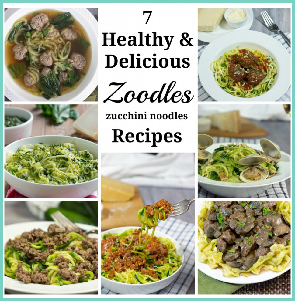 7 Healthy & Delicious Zoodles (Zucchini Noodles) Recipes - Healthy Recipes Zoodles