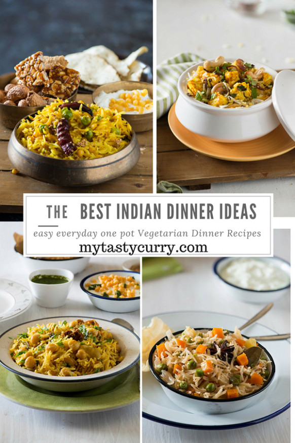 8 One pot Vegetarian Indian Dinner recipes - My Tasty Curry - recipes for dinner indian