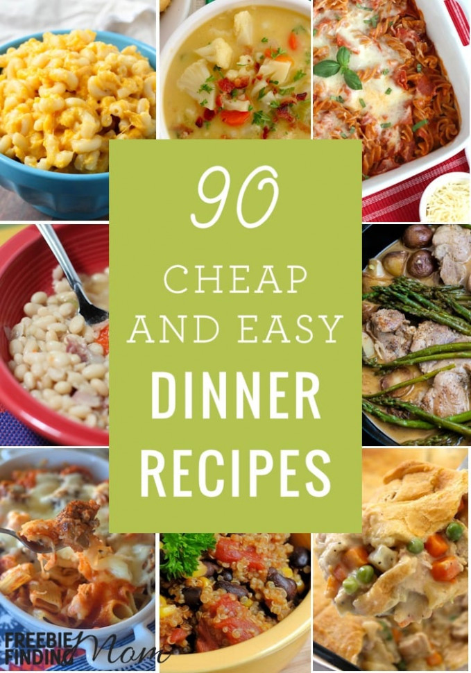 90 Cheap Quick Easy Dinner Recipes - healthy recipes dinner easy