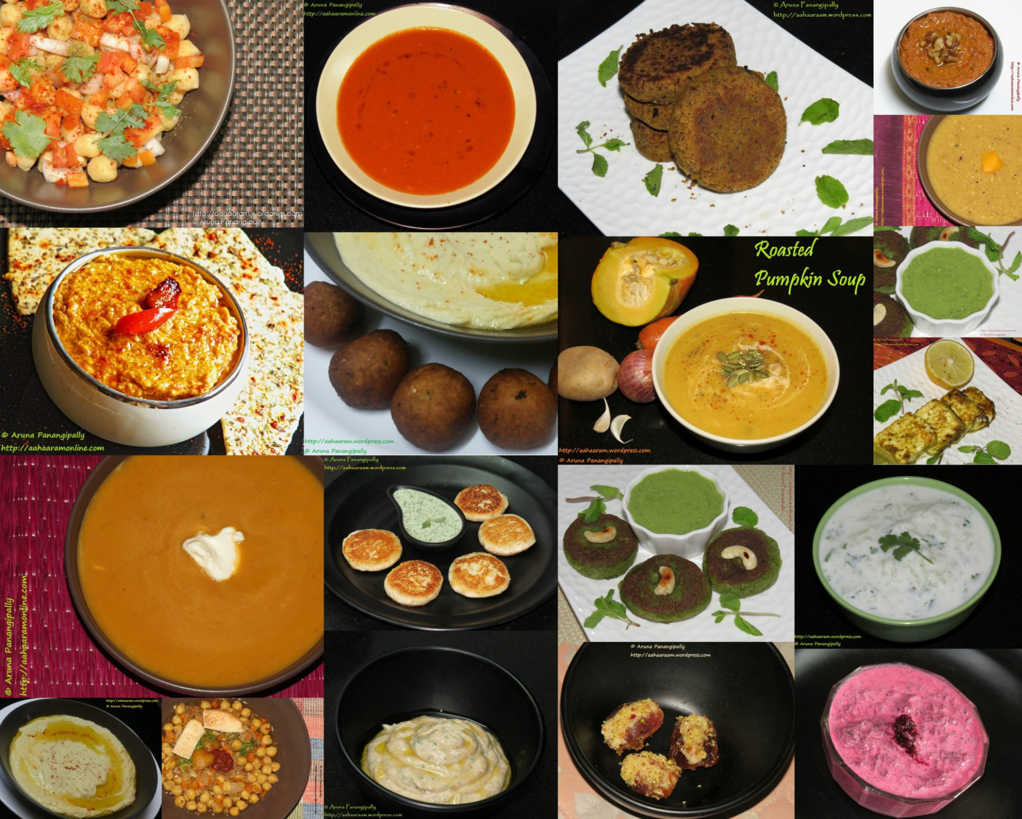 A Collection of Vegetarian Recipes for Iftar at Ramzan or ..