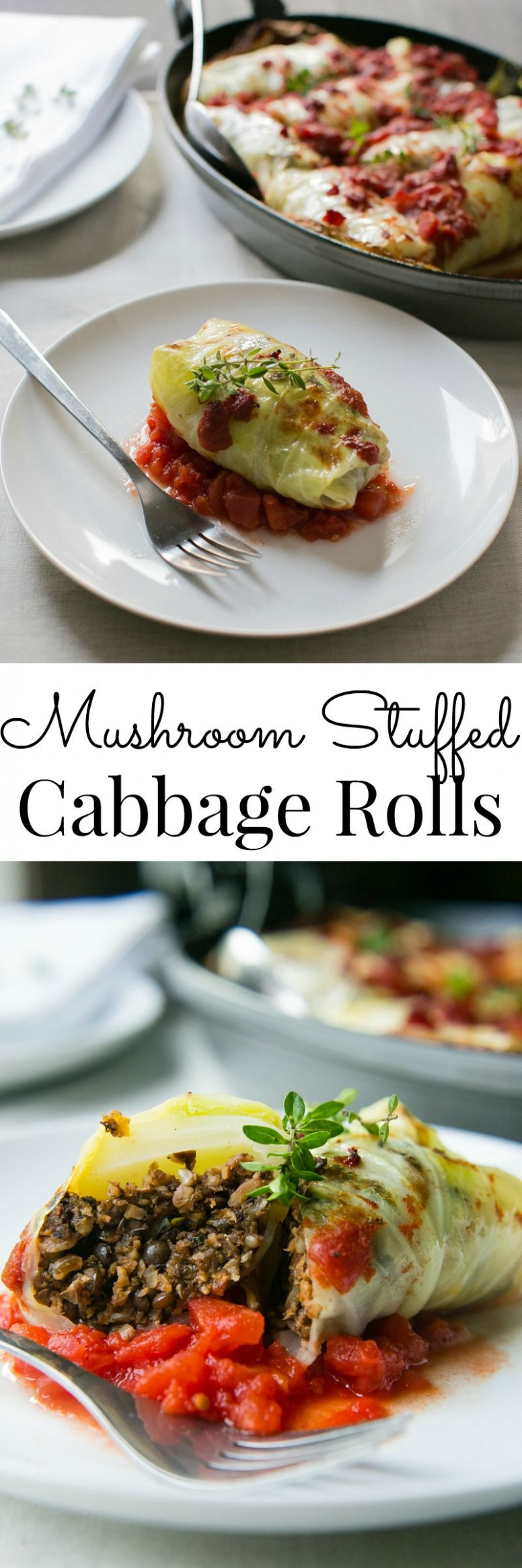A flavor packed meal, these Mushroom Stuffed Cabbage Rolls ..