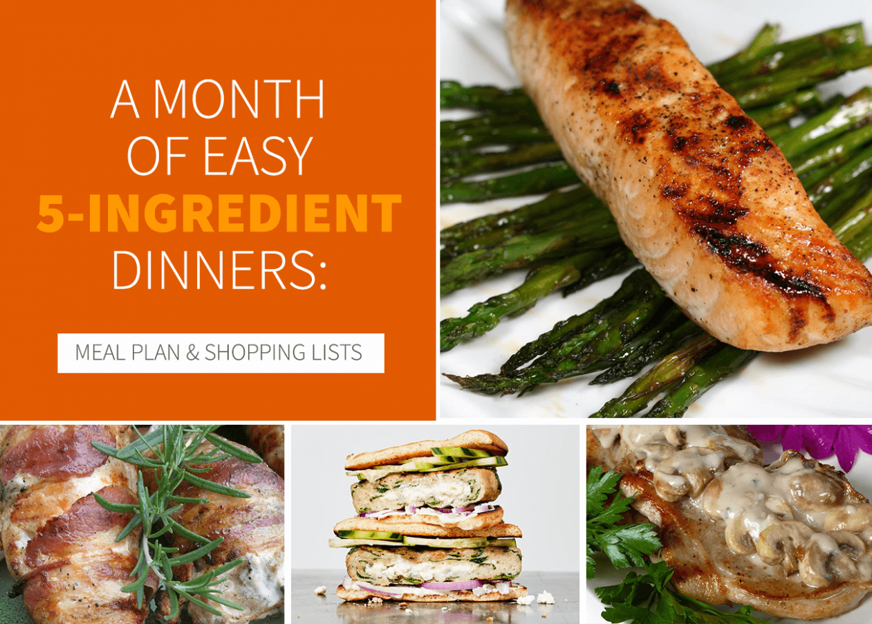 A Month of Easy 12-Ingredient Dinners: Meal Plan + Shopping ..