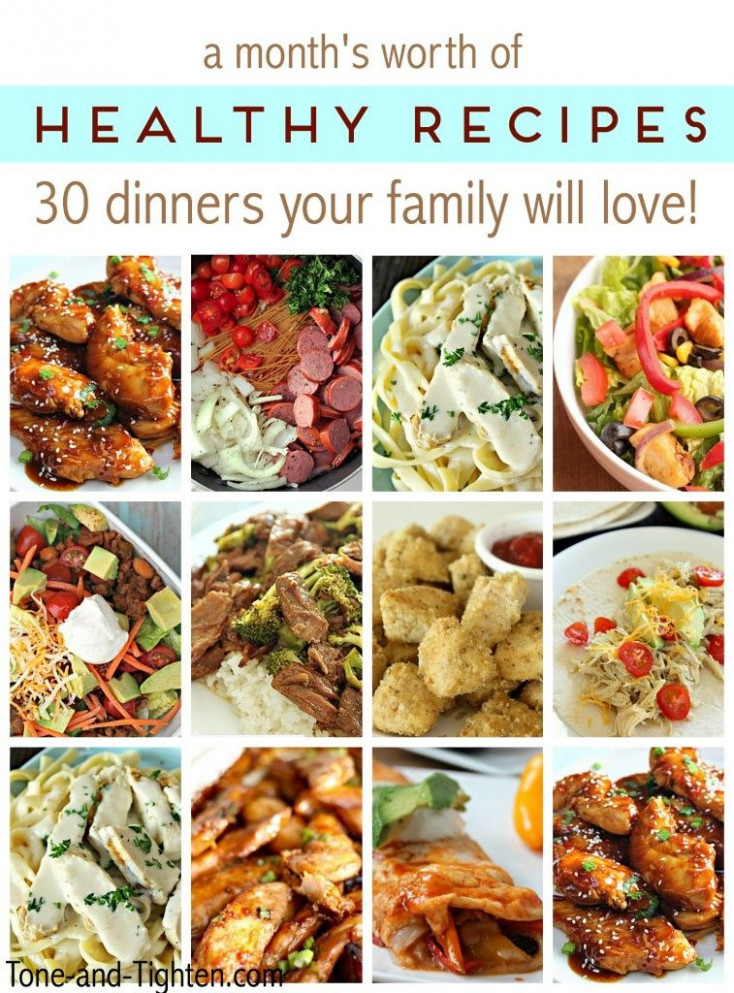 A Month's Worth Of Healthy Recipes - 30 Dinners Your Whole ..