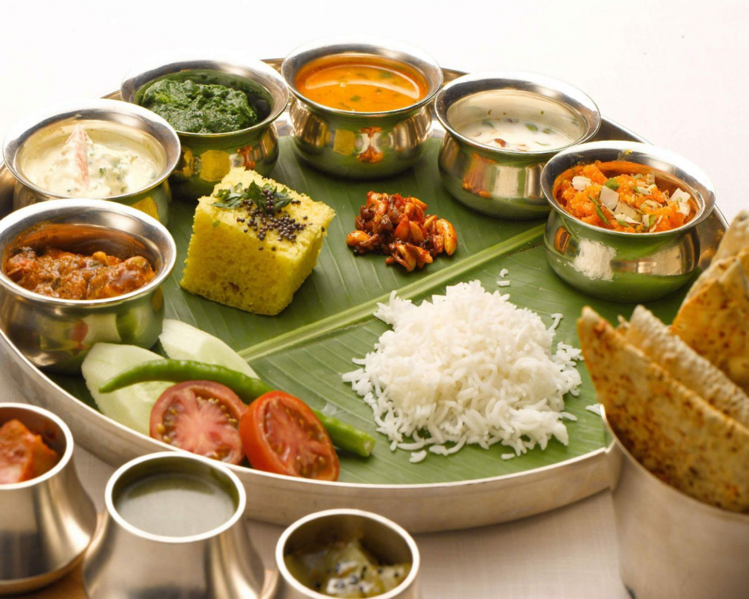 A thali is a delicious selection of Indian foods, with ..