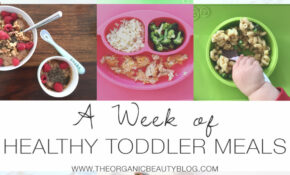 A Week Of Healthy Toddler Meals | The Organic Beauty – Healthy Recipes Blog