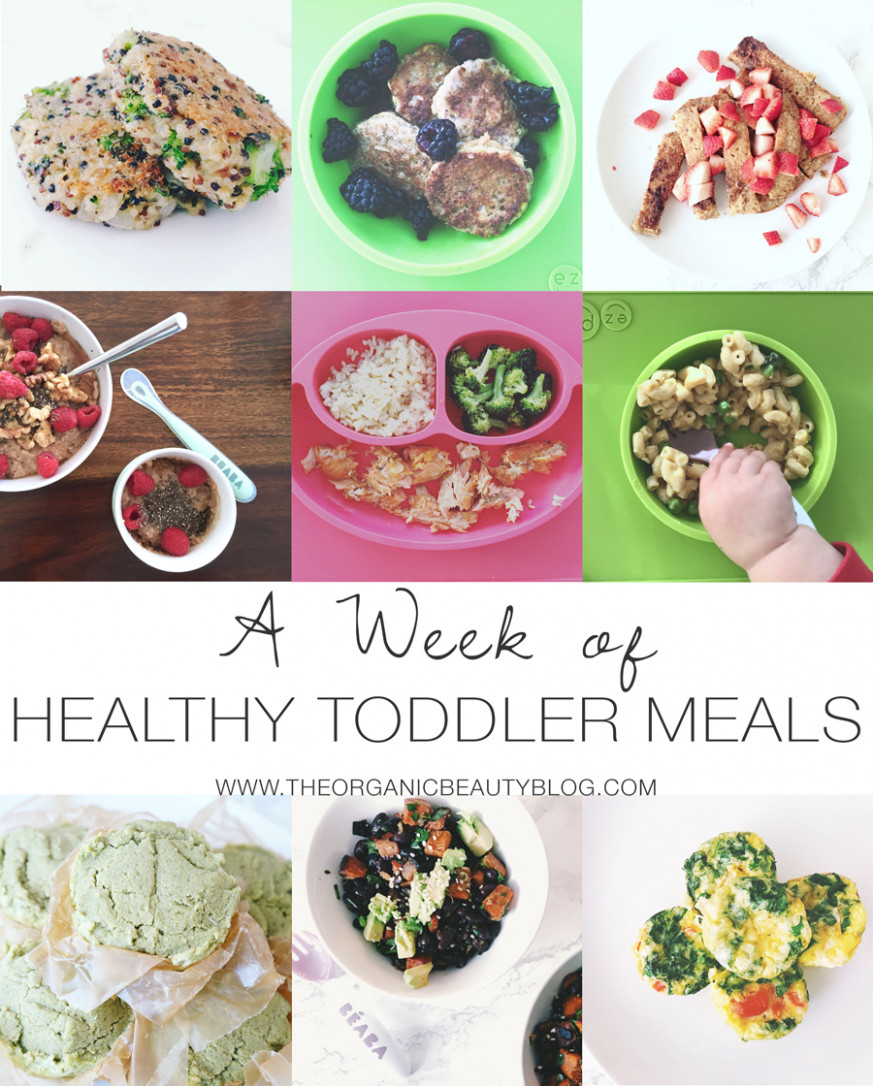 A Week of Healthy Toddler Meals | The Organic Beauty - healthy recipes blog