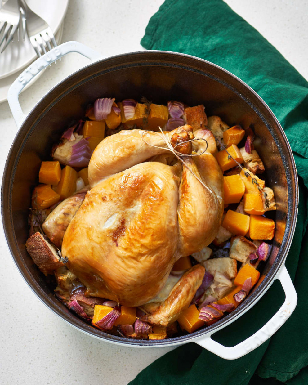 A Whole Roasted Chicken Dinner In A Dutch Oven | Kitchn - Chicken Recipes Dutch Oven