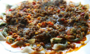 Afghan Dumplings With Beef Sauce And Garlic Yoghurt (ashak ..