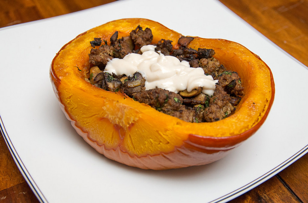 Afghan Inspired Stuffed Pumpkin - Dinner Recipes Delish