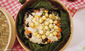 [afoodchay] | Vegetarian Steamed Rice Wrapped in Lotus Leaf – Vietnamese Vegetarian Recipe
