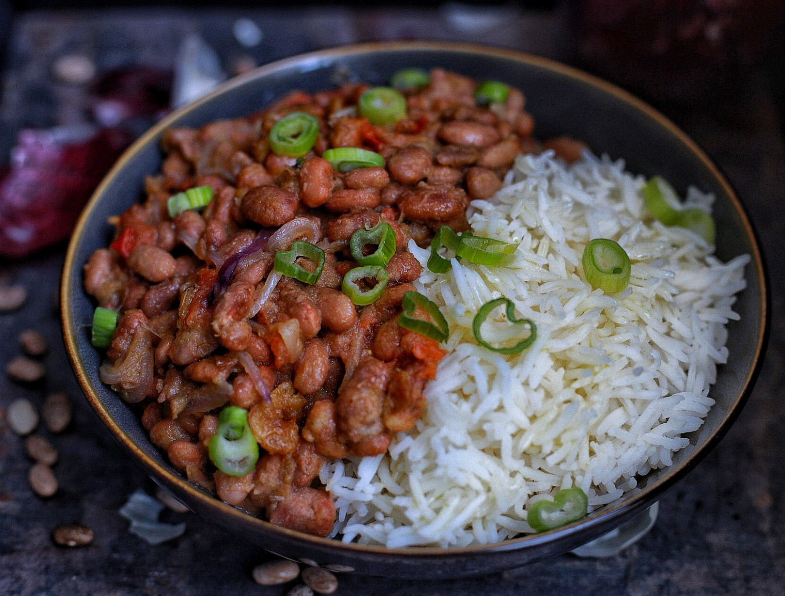 African Stewed pinto beans with rice - recipes pinto beans vegetarian