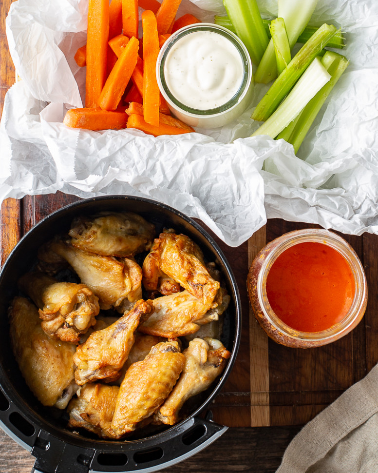 Air Fryer Chicken Wings - Basil And Bubbly - recipes air fryer chicken wings