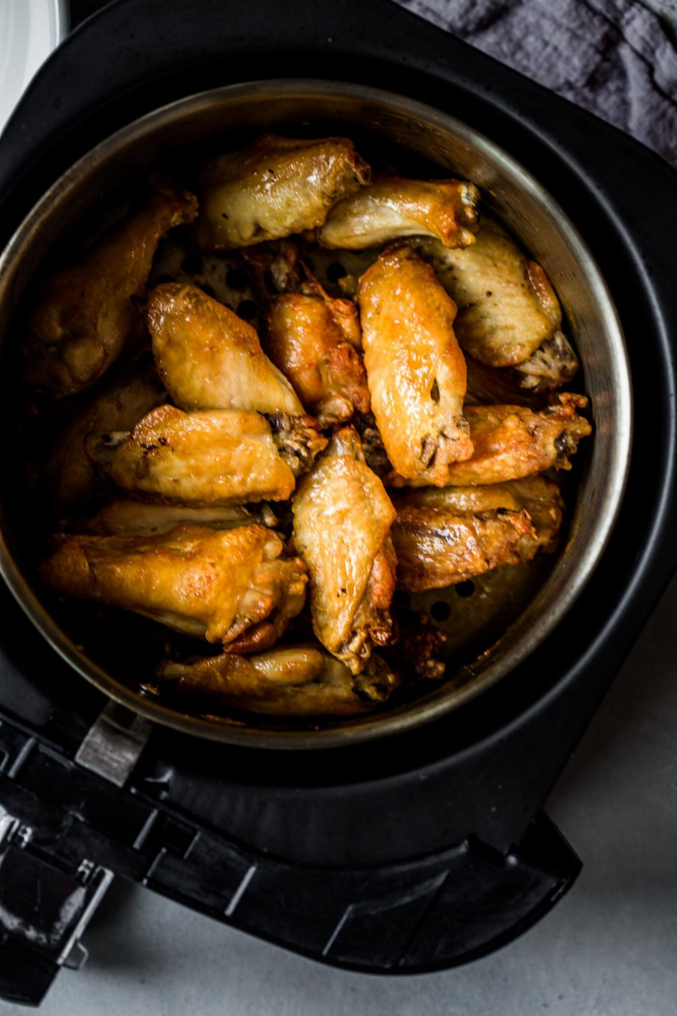 Air Fryer Chicken Wings with Buffalo Sauce | Platings + Pairings - oil less fryer recipes chicken