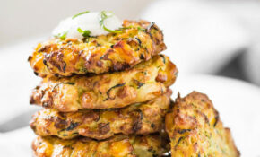 Air Fryer Healthy Zucchini Corn Fritters | Watch What U Eat – Recipes Air Fryer Healthy