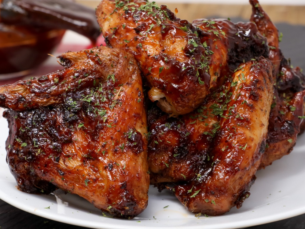 Air Fryer Honey BBQ Chicken Wings - power airfryer xl recipes chicken wings