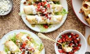 Air Fryer Salsa Chicken Taquitos - Simply Scratch