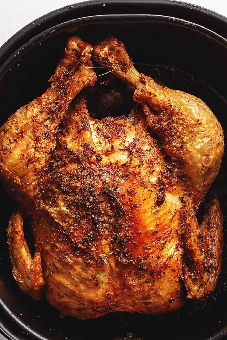 Air Fryer Whole Chicken • Low Carb with Jennifer - air fryer recipes chicken