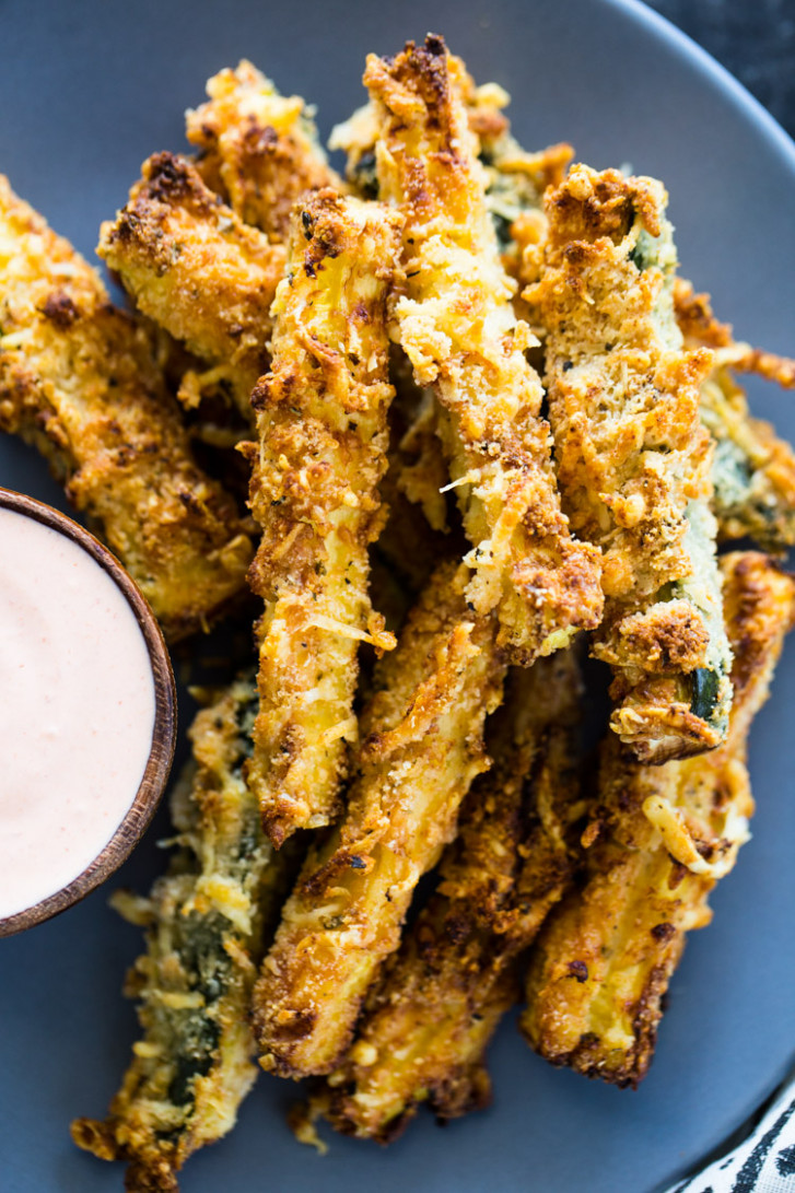 Air Fryer Zucchini Fries (Low Carb Keto) - air fryer recipes dinner