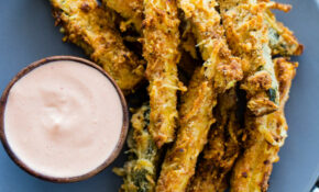 Air Fryer Zucchini Fries (Low Carb – Keto) | Gimme Delicious – Healthy Recipes In Air Fryer