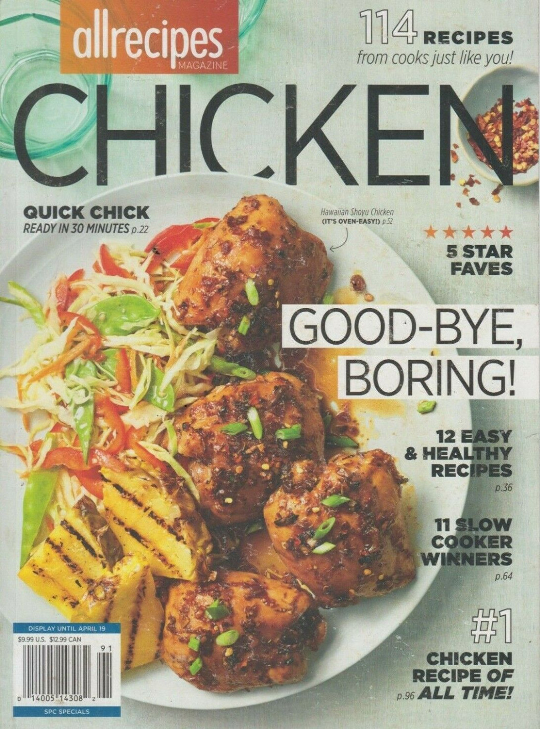 Allrecipes Magazine CHICKEN 14 Recipes/Easy & Healthy - healthy recipes allrecipes