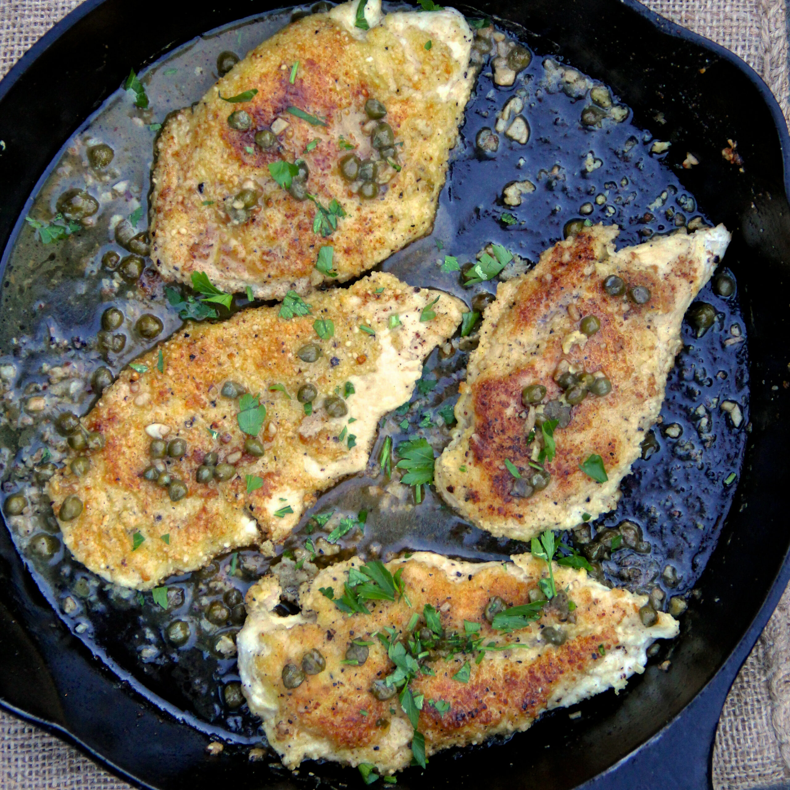 Almond Flour-Crusted Chicken Piccata Recipe - Ian Knauer ..