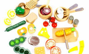 Amazon.com: Wooden Cutting Cooking Food Sets, Pretend Play ..