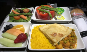American Airlines Asian Vegetarian Meal Review | The ..