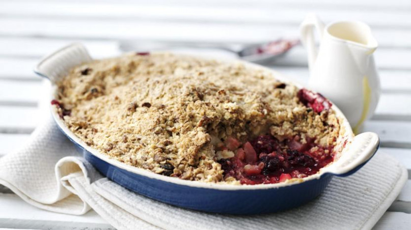 Apple And Blackberry Crumble Recipe - BBC Food - Bbc Food Recipes
