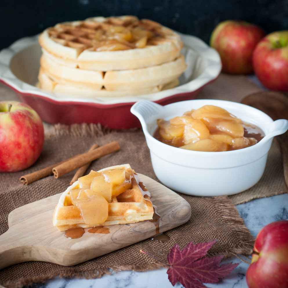 Apple Pie Compote for Waffles, Pancakes and More! - easy food recipes