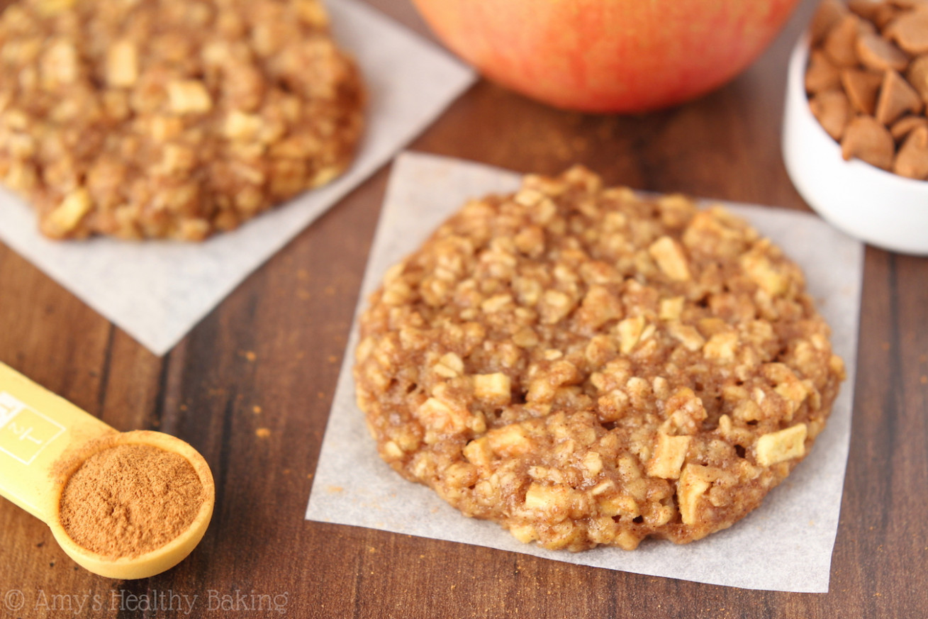 Apple Pie Oatmeal Cookies - healthy recipes apples