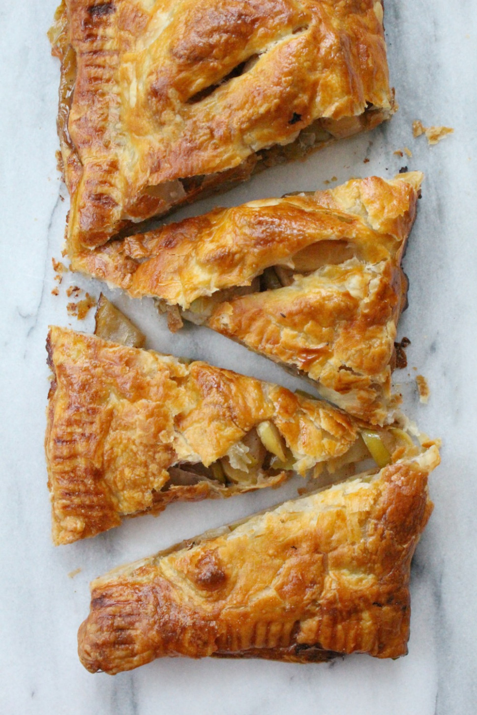 Apple Slab Pie - Puff Pastry Recipes Dinner
