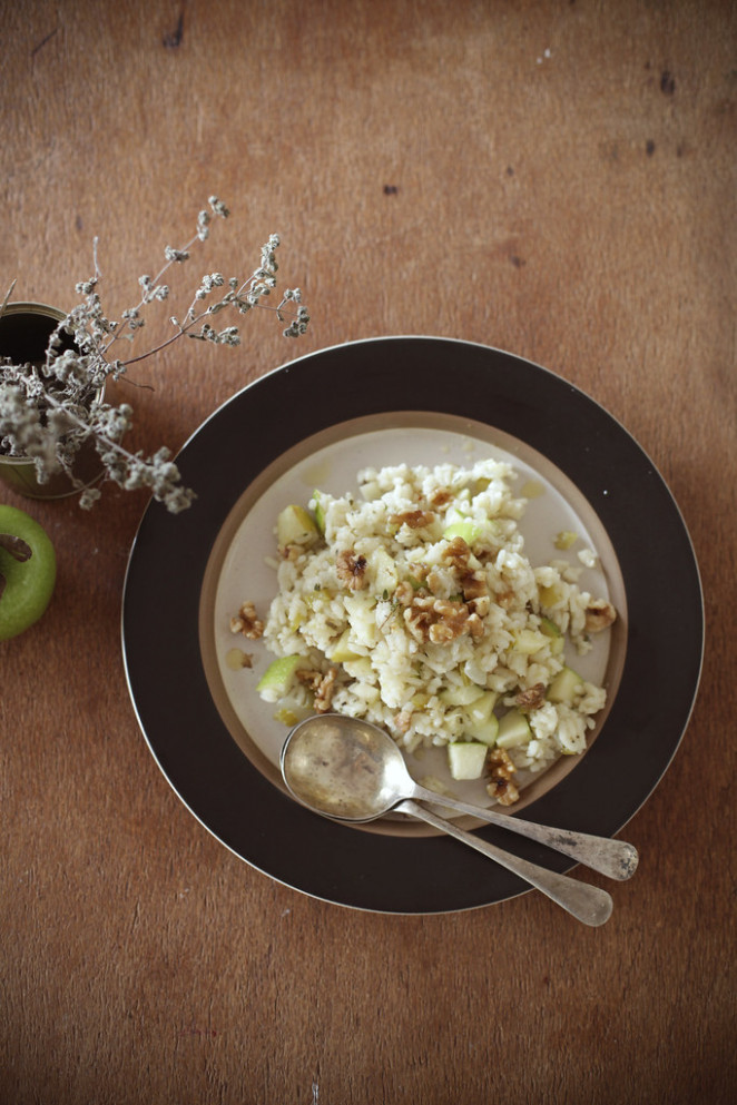 Apple & Walnut Risotto - risotto recipes vegetarian