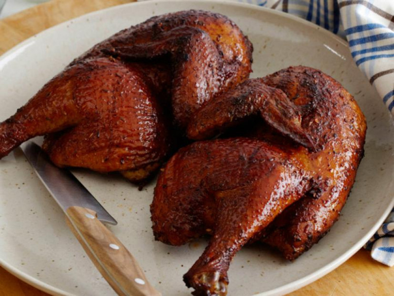 Applewood Smoked Chicken Recipe | The Neelys | Food Network - recipes smoked chicken