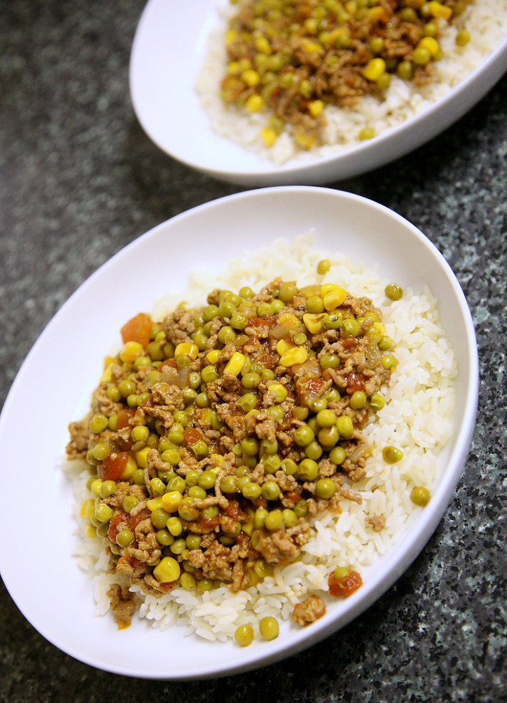 Arabic Peas & Rice - food recipes arabic