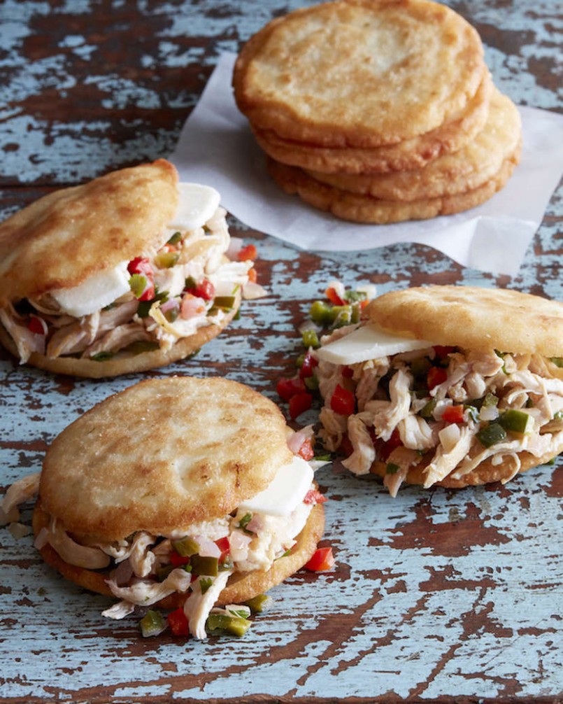 Arepas with Pulled Poblano Chicken - recipes pulled chicken