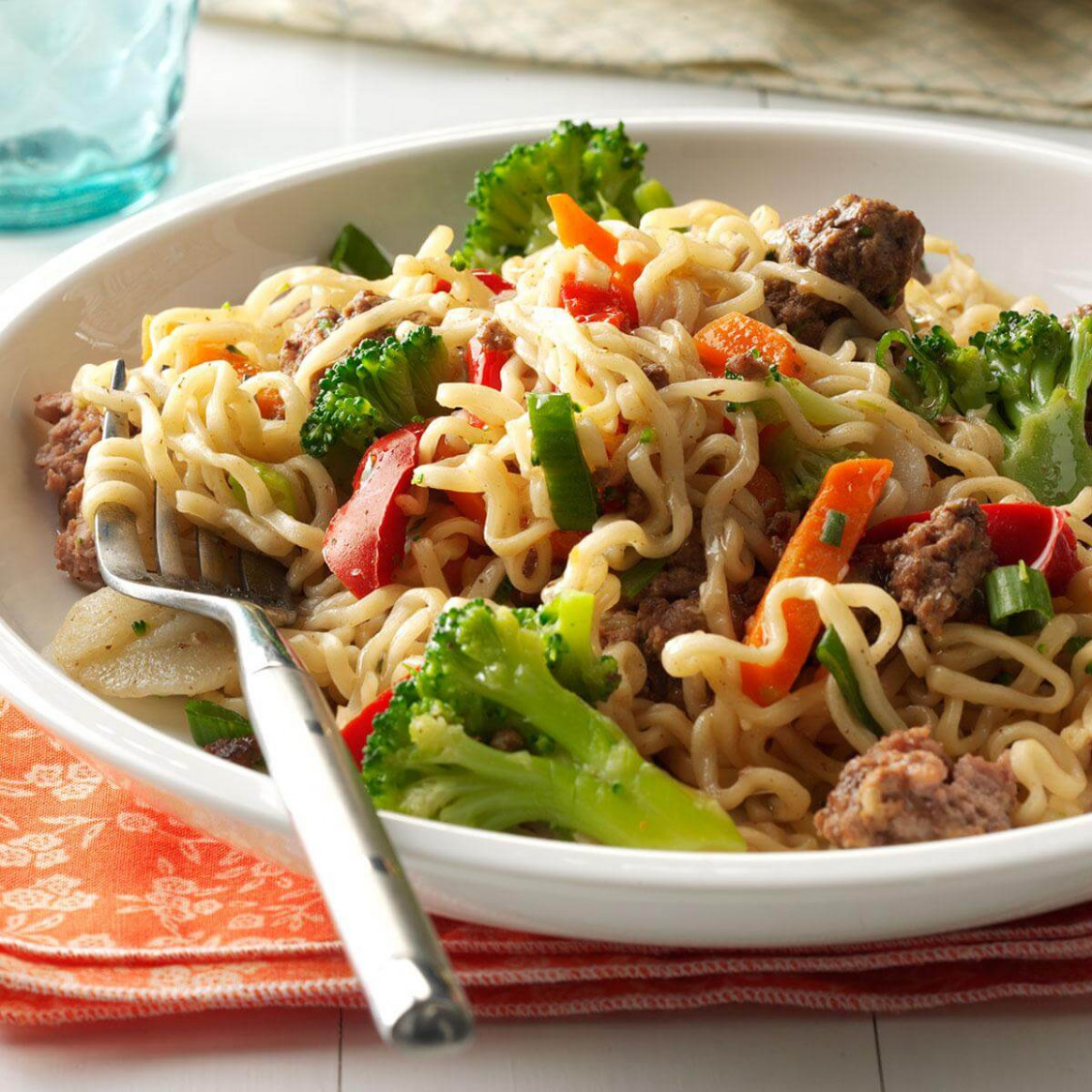 Asian Beef and Noodles Recipe | Taste of Home - food recipes noodles