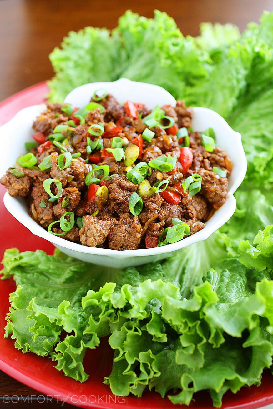 Asian Beef Lettuce Wraps - recipes minced meat healthy