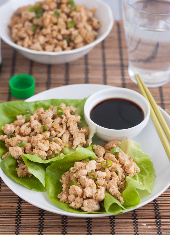 Asian Chicken Lettuce Wraps (PF Chang Copycat Recipe) - lettuce wrap recipes chicken