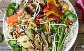 Asian Chicken Veggie Bowl