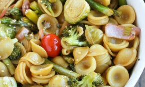 Asian Ginger Sesame Roasted Vegetable Pasta – Japanese Recipes Vegetarian