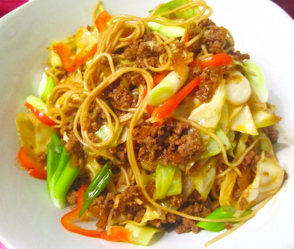 Asian Inspired Fiery Lamb With Egg Noodles And Vegetables @ Home by Hans susser - quick comfort food recipes