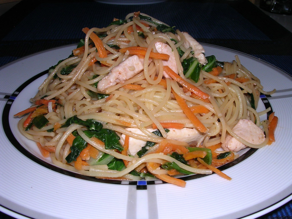 Asian Noodles with Chicken, Bok Choy and Carrot - recipes hoisin sauce chicken
