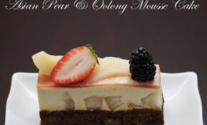 Asian Pear & Oolong Mousse Cake