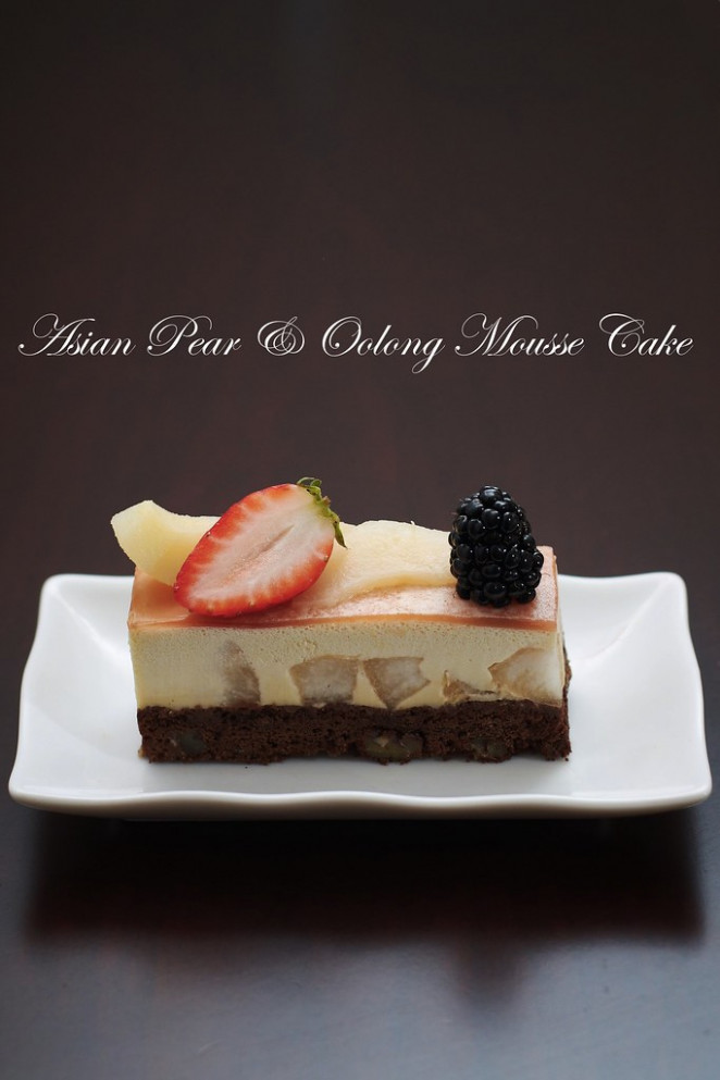Asian Pear & Oolong Mousse Cake - food recipes asian