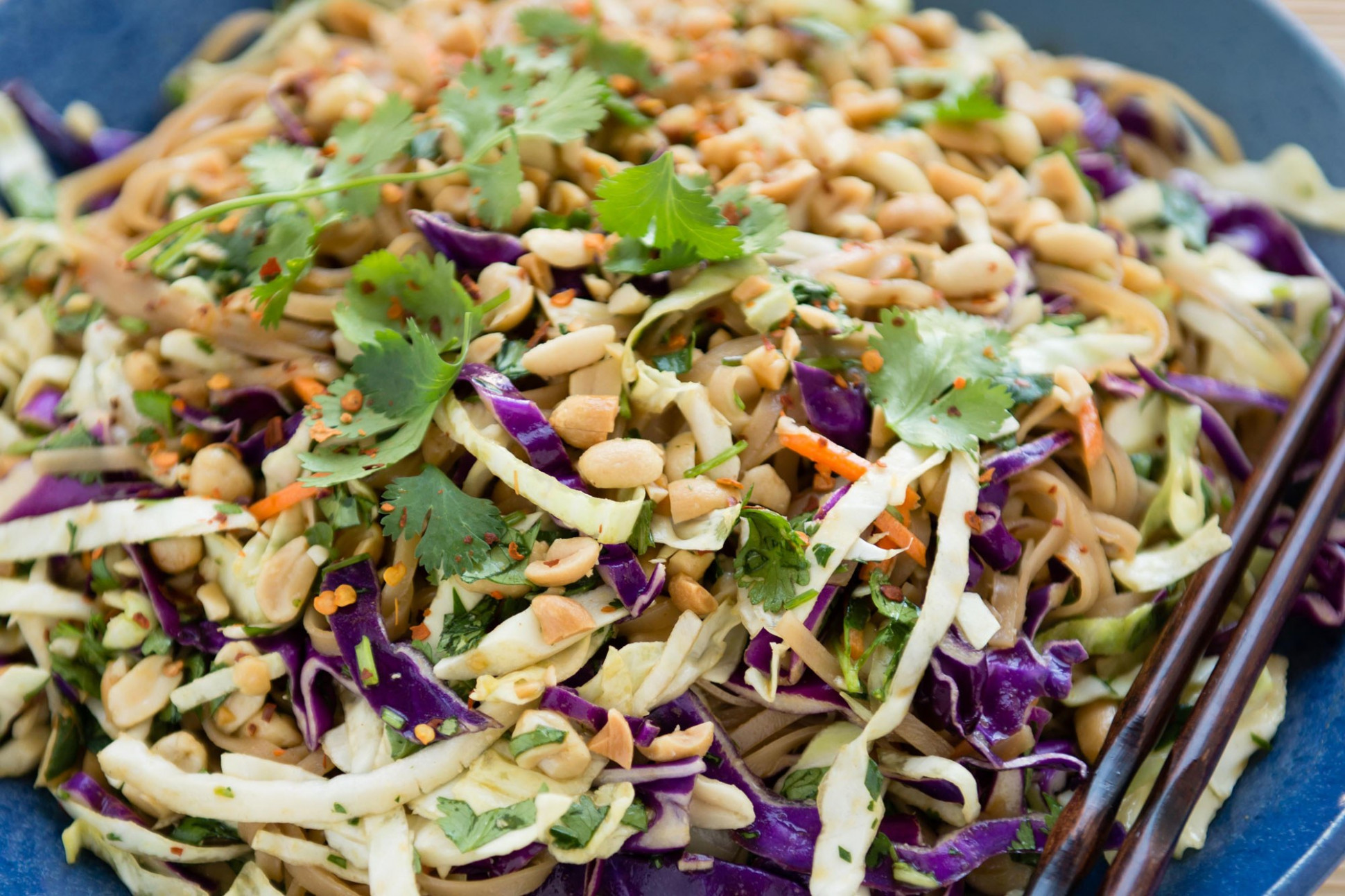 Asian Rice Noodle Salad - vegetarian recipes asian
