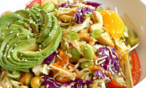 Asian Salad With Ginger Sesame Dressing – Yummy Mummy Kitchen – Healthy Salad Recipes Vegetarian