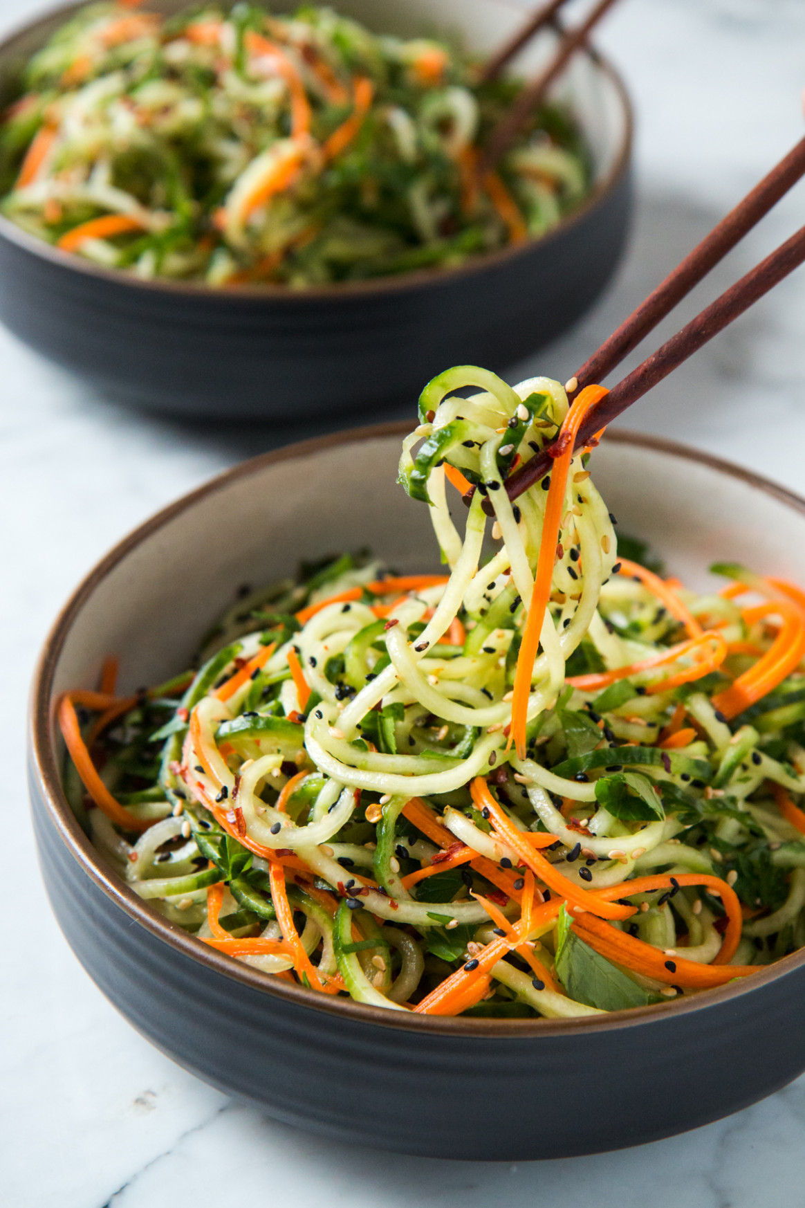 Asian Sesame Cucumber Salad | Will Cook For Friends - vegetarian zoodle recipes