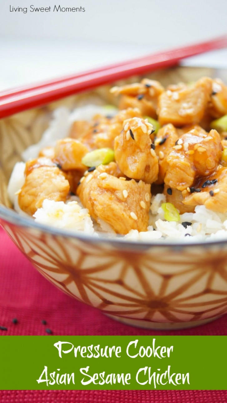 Asian Sesame Instant Pot Chicken - Living Sweet Moments - chicken recipes quick pot