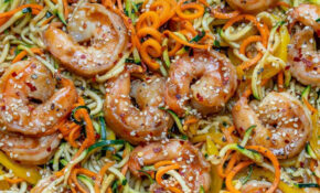 Asian Shrimp Zucchini Noodles Recipe | Healthy Fitness Meals – Zucchini Noodle Recipes Vegetarian